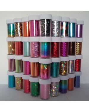 35 x Nail Art Wrap Foils Transfer Glitter Sticker Polish Decal Decoration