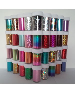 100 x Nail Art Wrap Foils Transfer Glitter Sticker Polish Decal Decoration